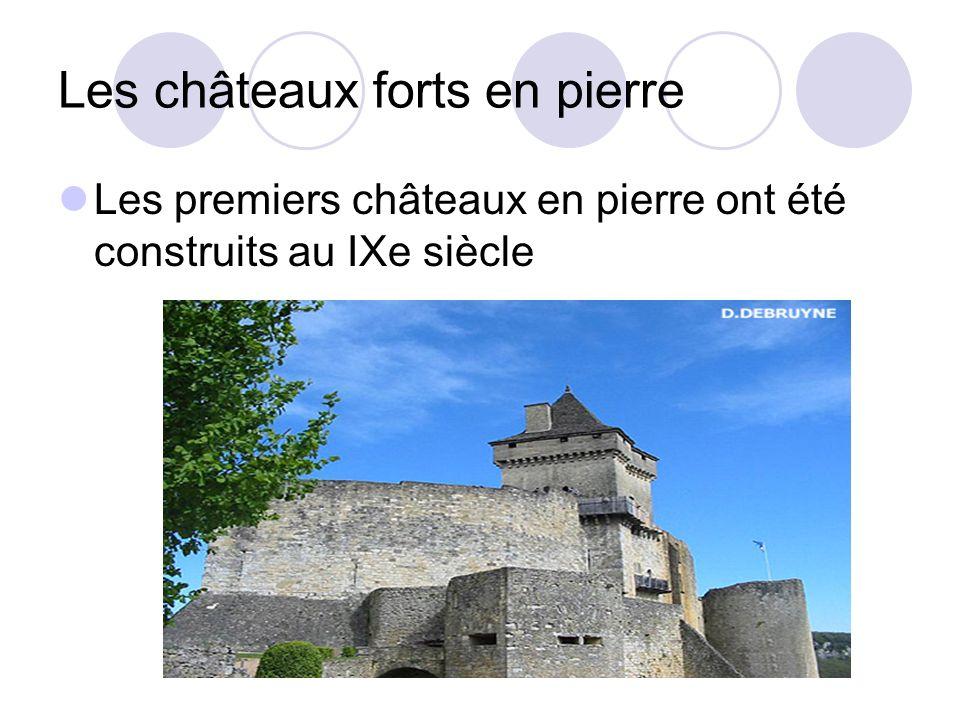 Les châteaux forts en pierre