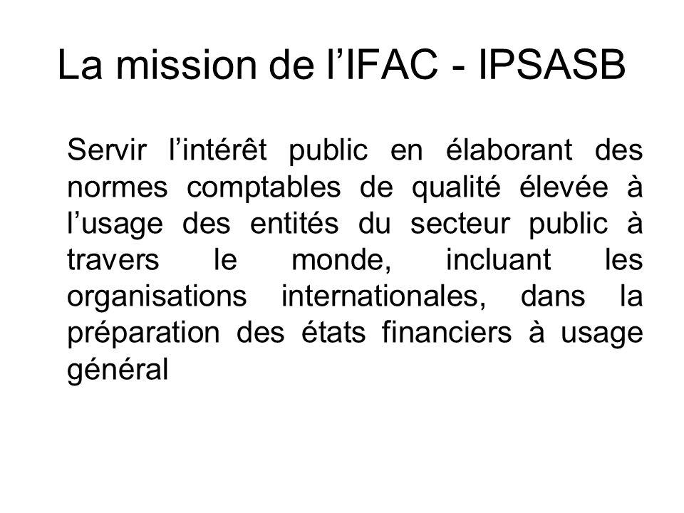 La mission de l'IFAC - IPSASB
