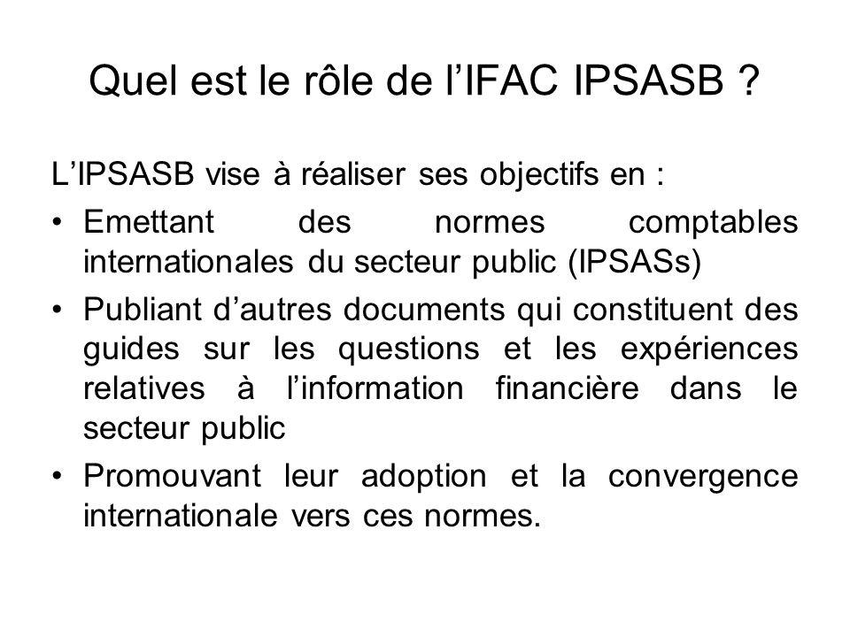 Quel est le rôle de l'IFAC IPSASB