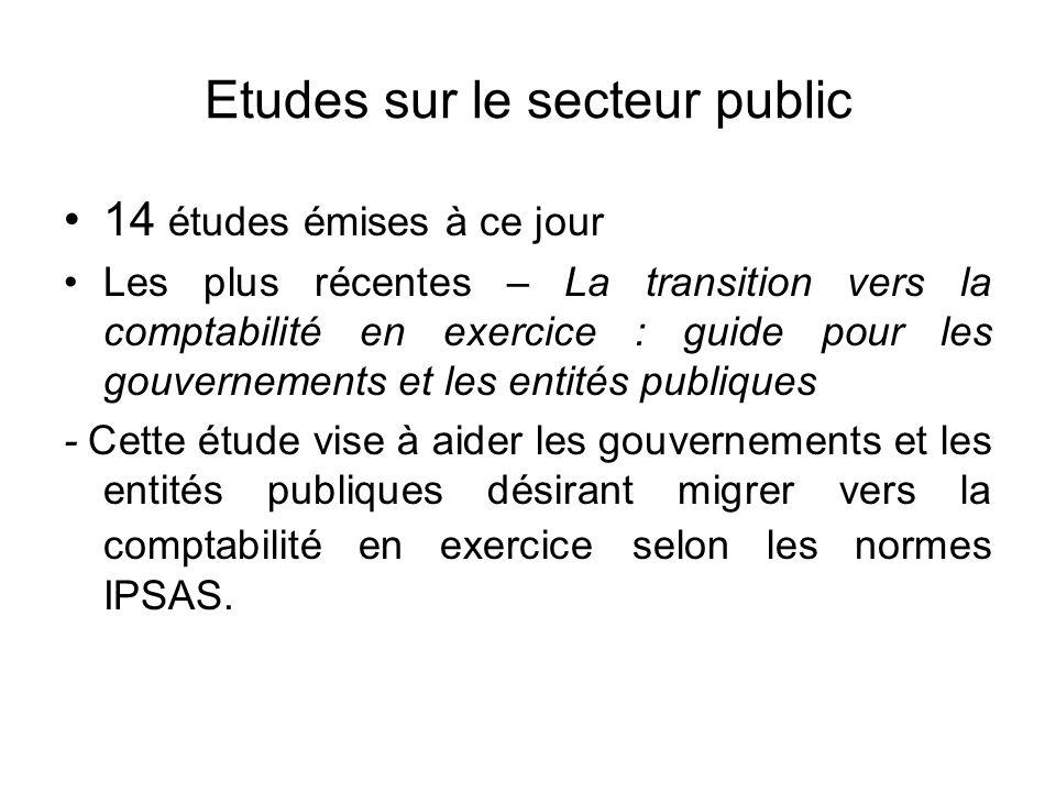 Etudes sur le secteur public