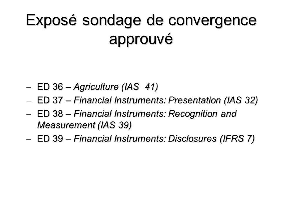 Exposé sondage de convergence approuvé