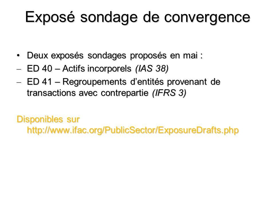 Exposé sondage de convergence