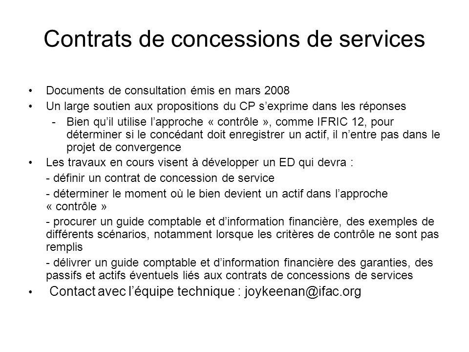 Contrats de concessions de services