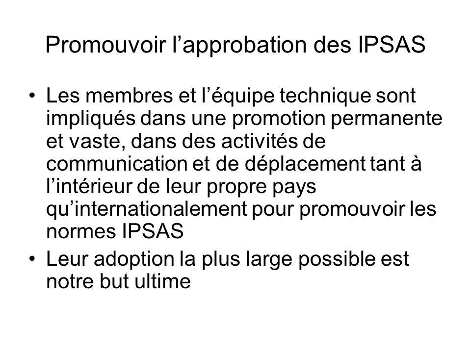 Promouvoir l'approbation des IPSAS