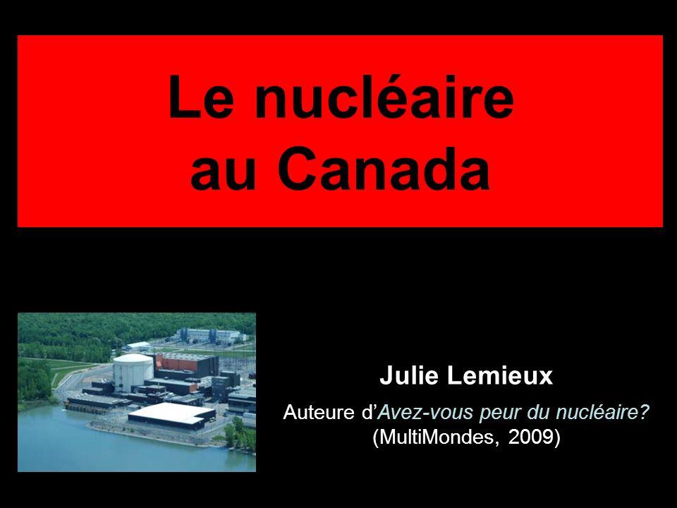 Auteure d'Avez-vous peur du nucléaire