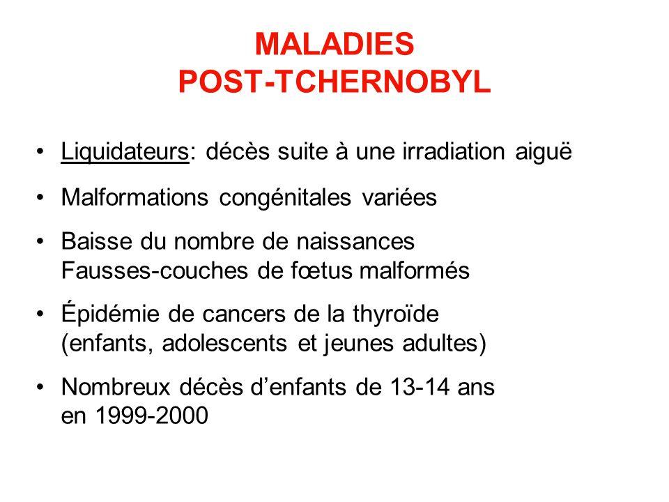 MALADIES POST-TCHERNOBYL