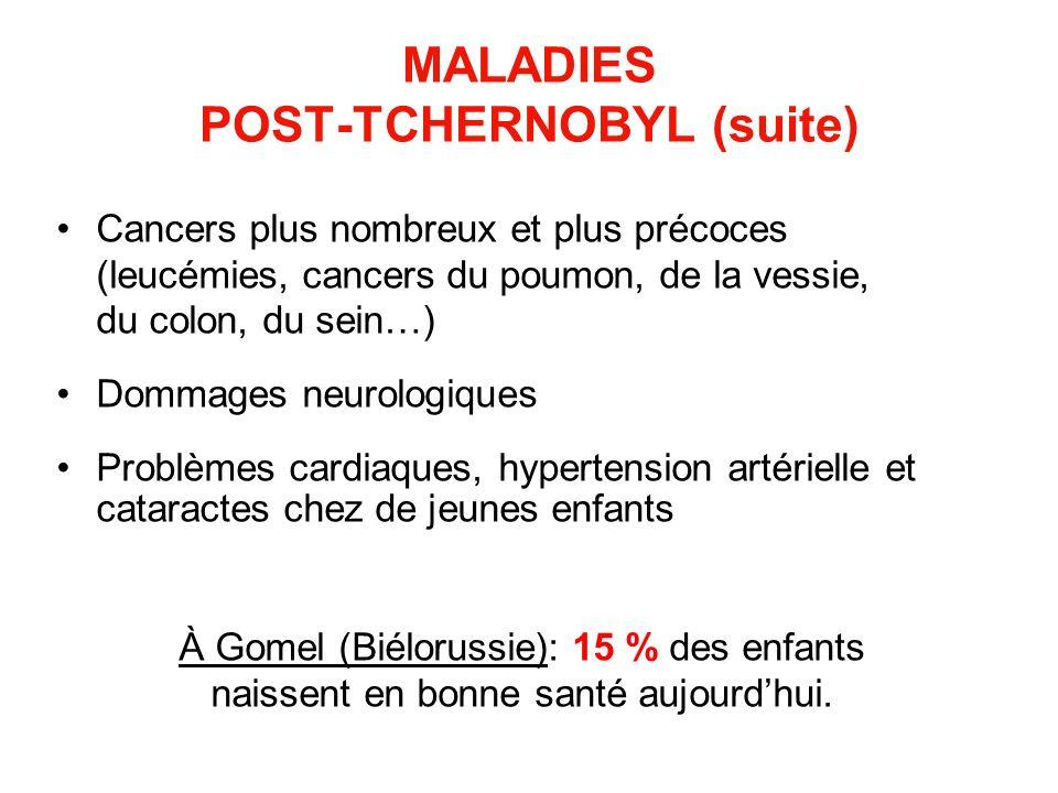 MALADIES POST-TCHERNOBYL (suite)