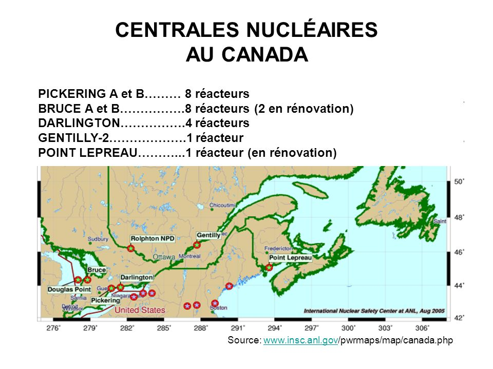 CENTRALES NUCLÉAIRES AU CANADA