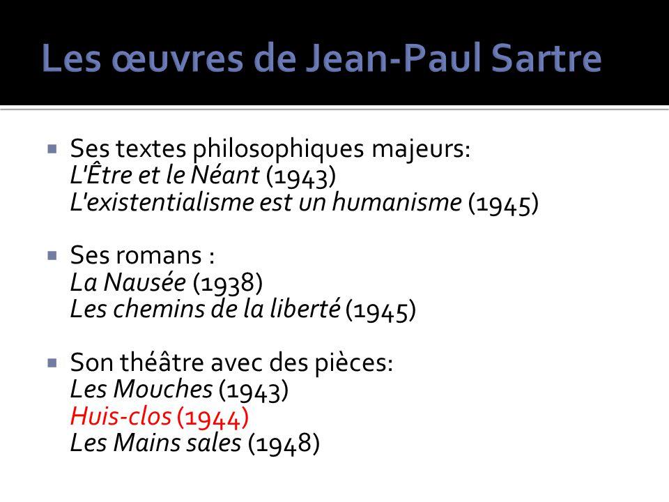 Les œuvres de Jean-Paul Sartre