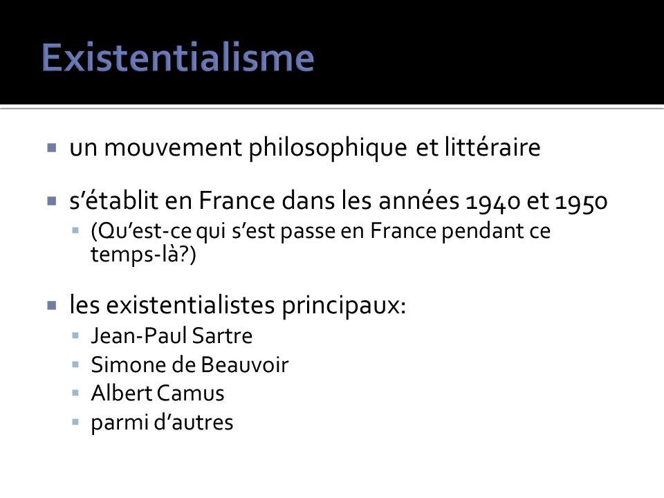 Existentialisme un mouvement philosophique et littéraire
