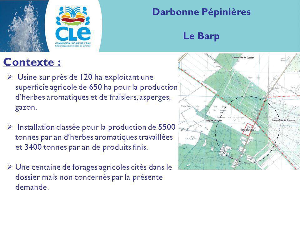 Contexte : Darbonne Pépinières Le Barp