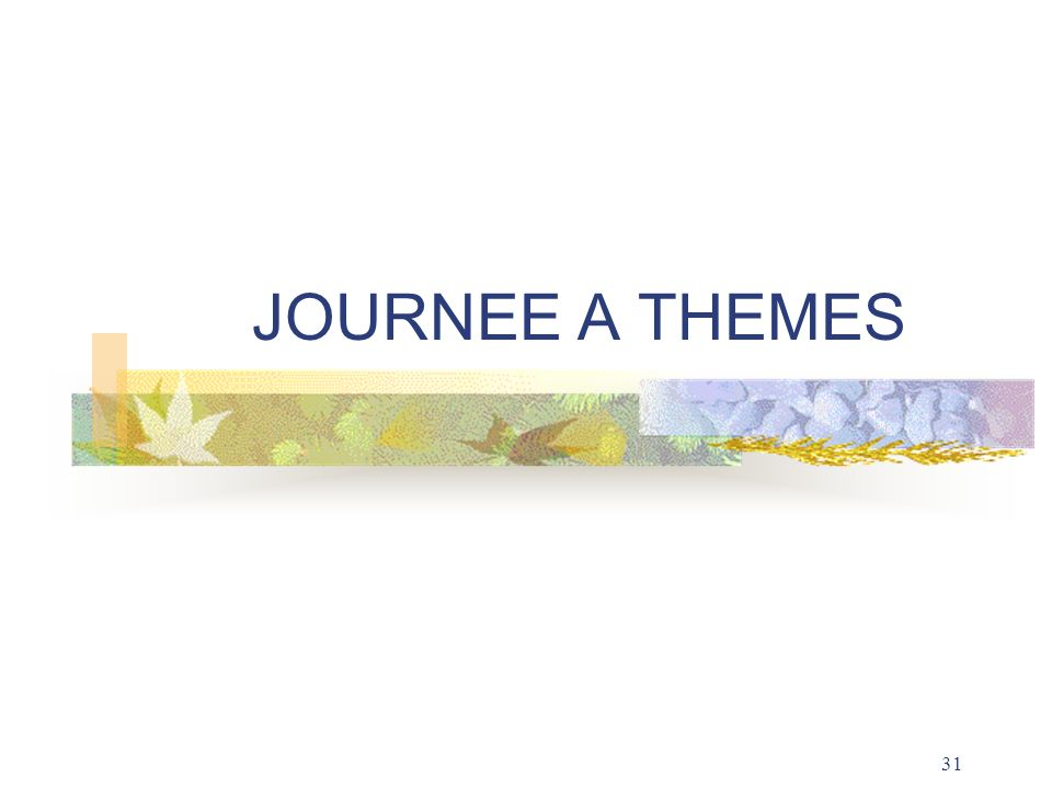 JOURNEE A THEMES