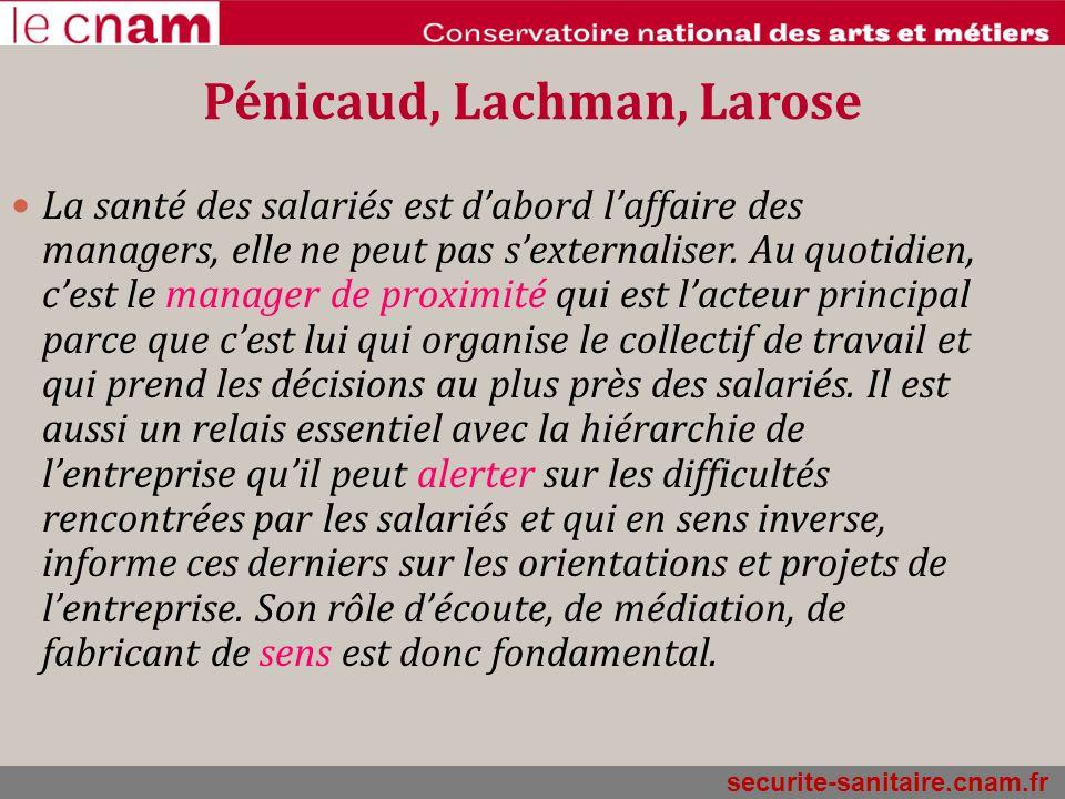 Pénicaud, Lachman, Larose