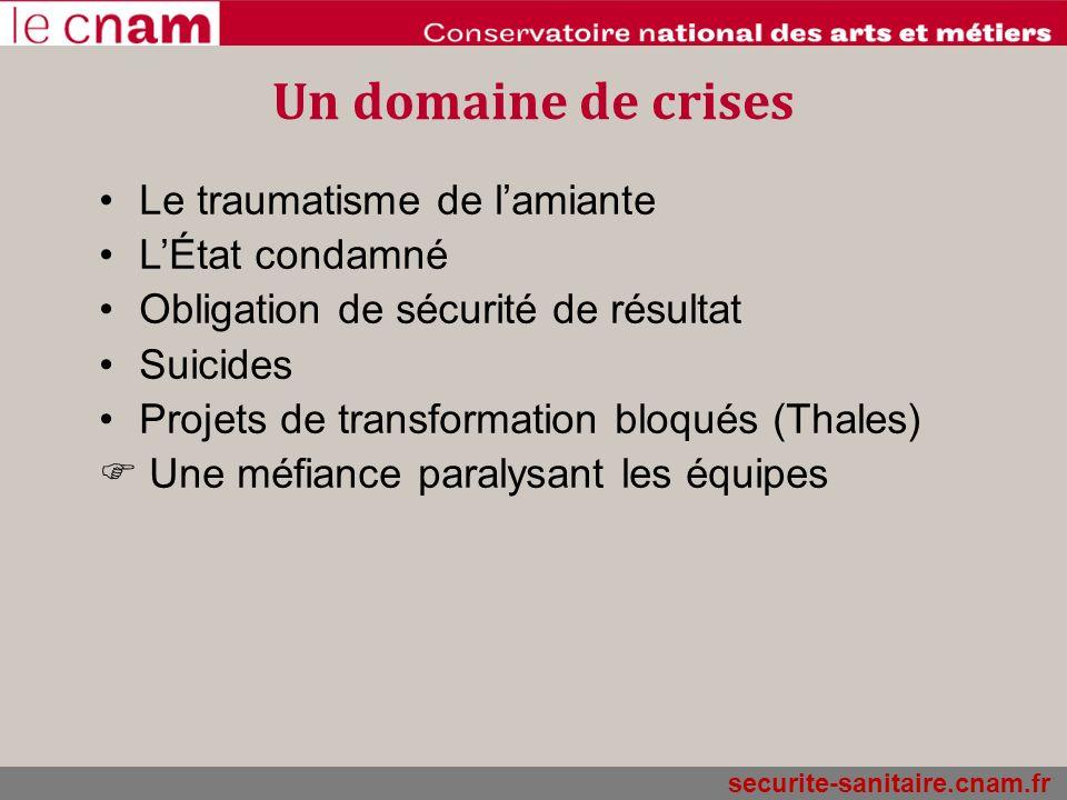 Un domaine de crises Le traumatisme de l'amiante L'État condamné