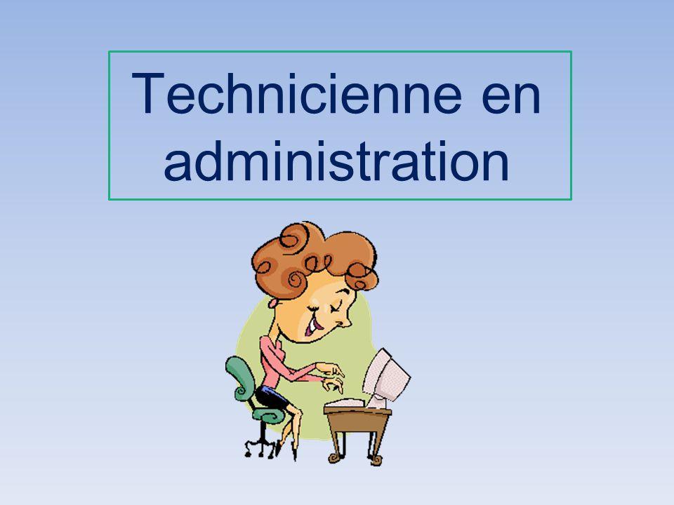 Technicienne en administration