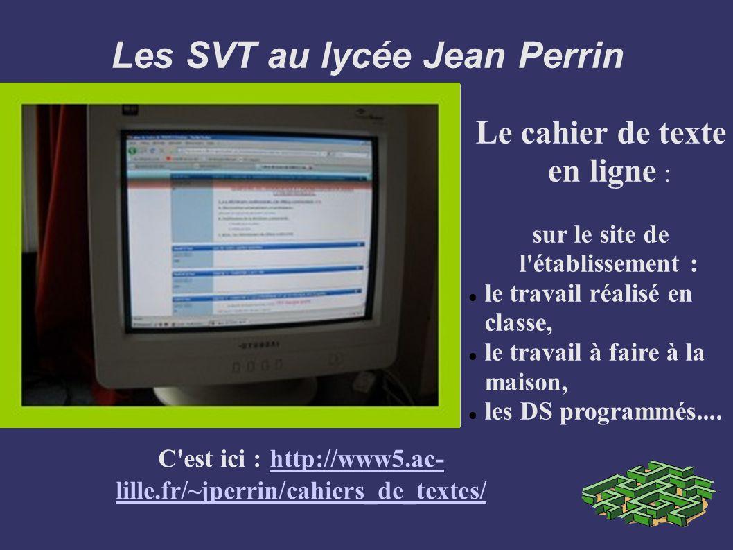 Les SVT au lycée Jean Perrin
