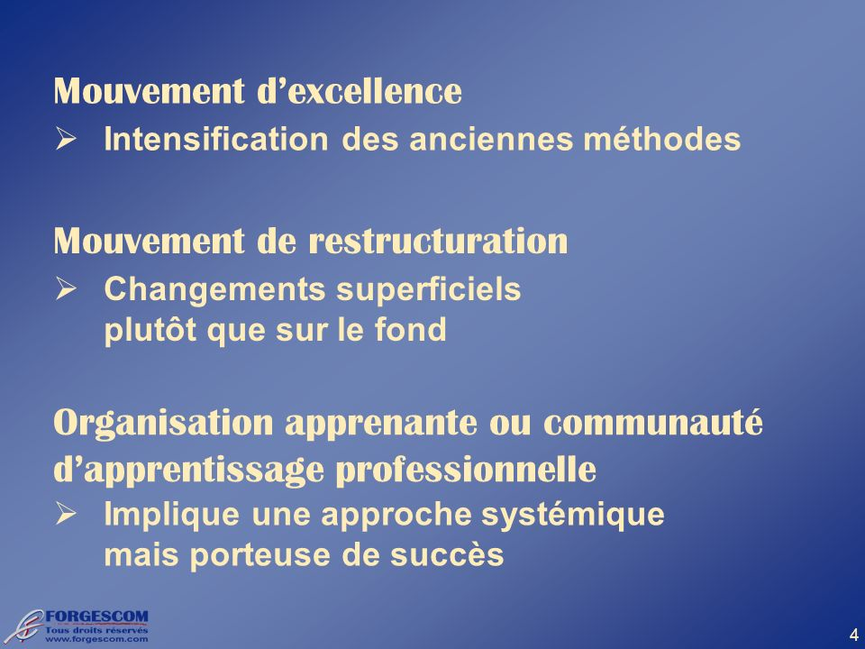 Mouvement d'excellence