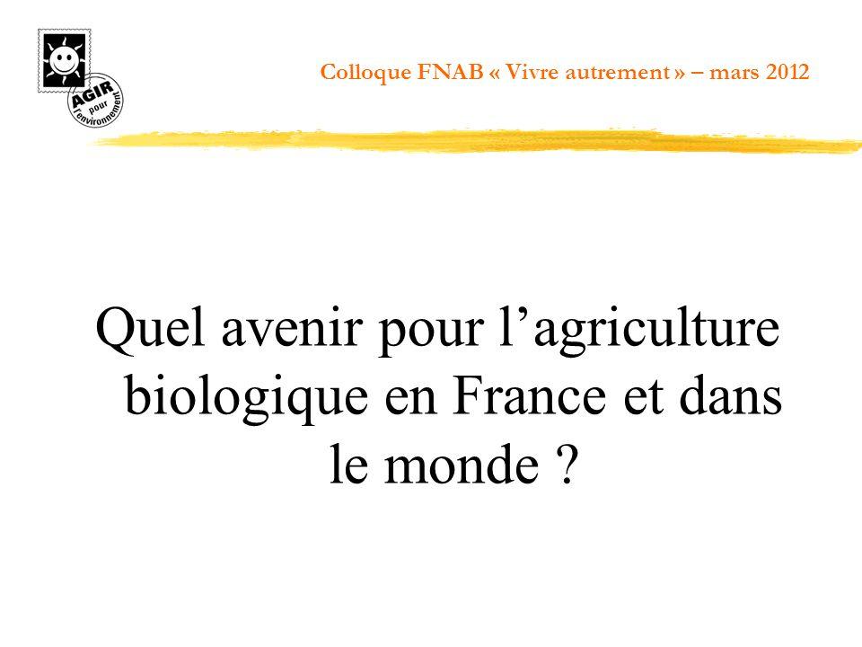 Quel avenir pour l'agriculture biologique en France et dans le monde