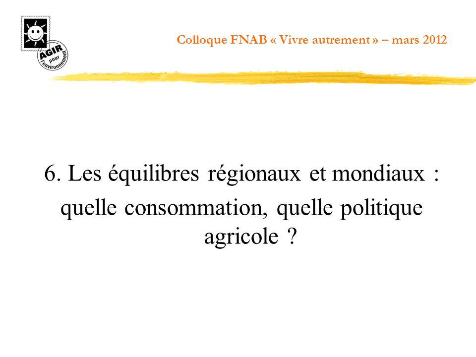 6. Les équilibres régionaux et mondiaux :