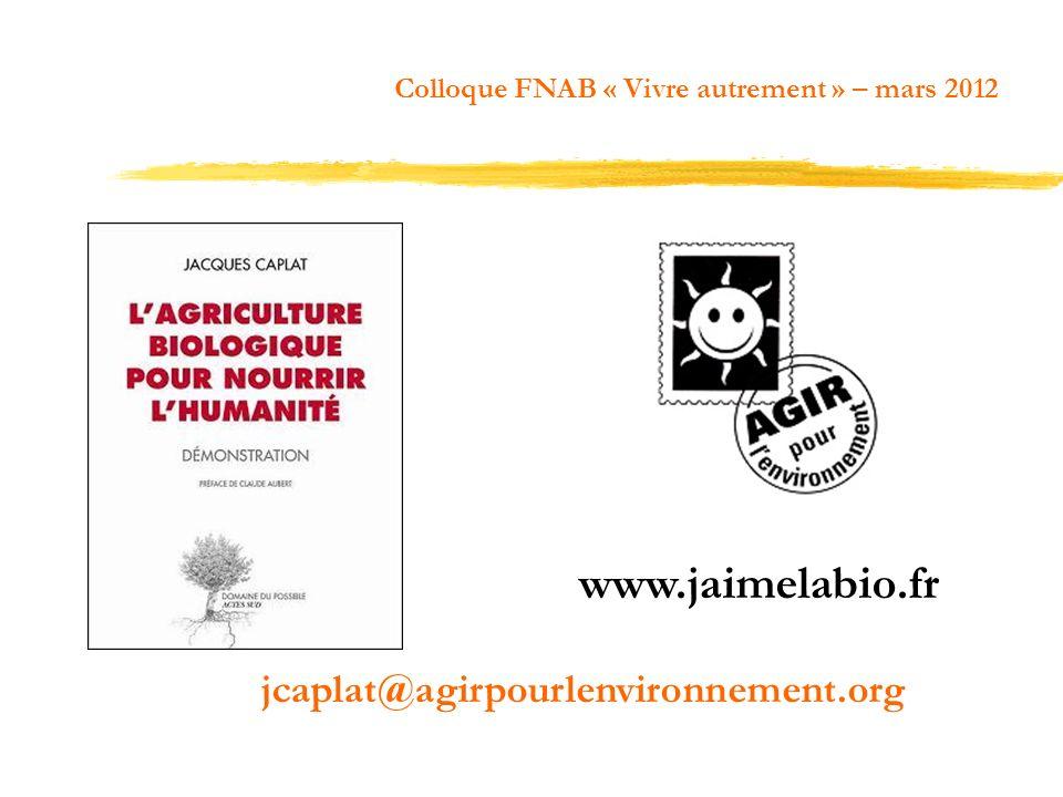 www.jaimelabio.fr jcaplat@agirpourlenvironnement.org