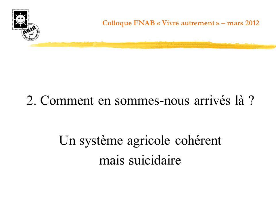 2. Comment en sommes-nous arrivés là Un système agricole cohérent