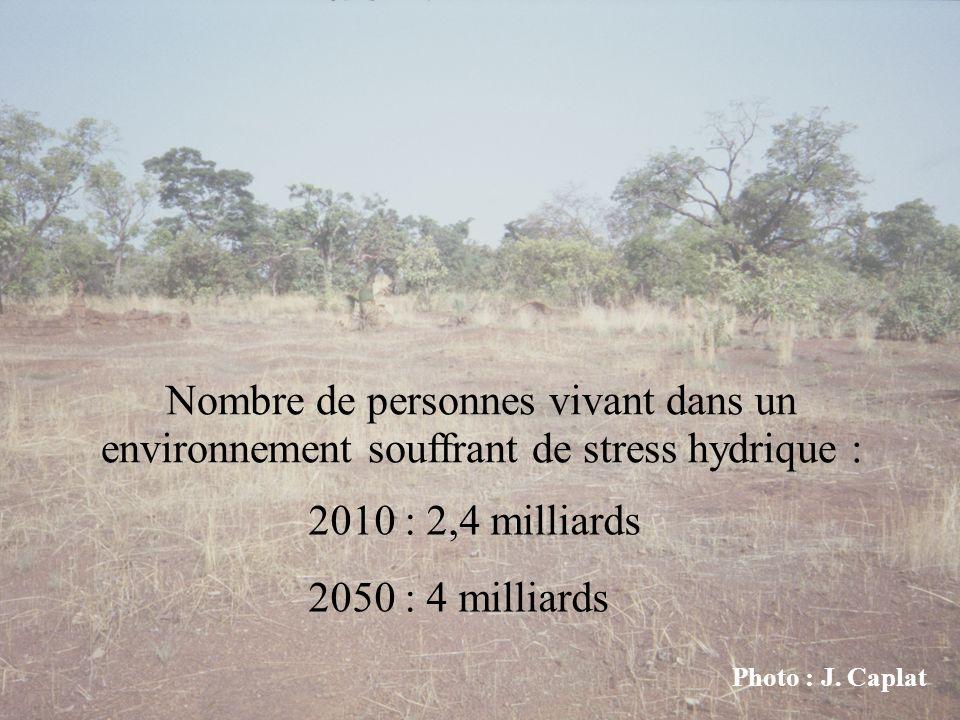 Nombre de personnes vivant dans un environnement souffrant de stress hydrique :