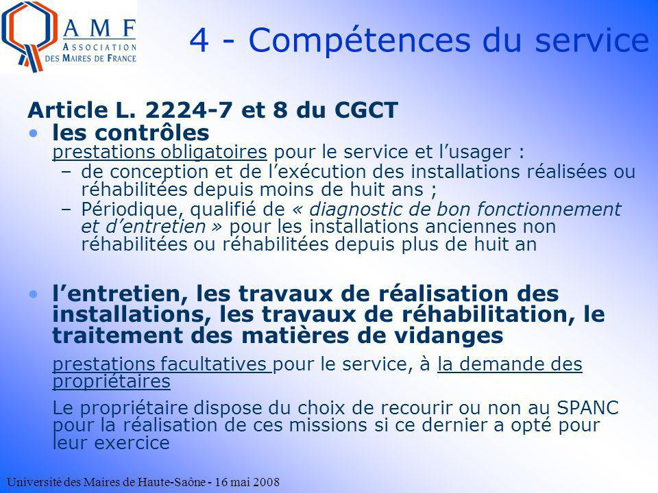 4 - Compétences du service