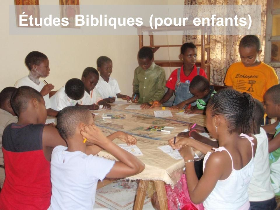 Études Bibliques (pour enfants)