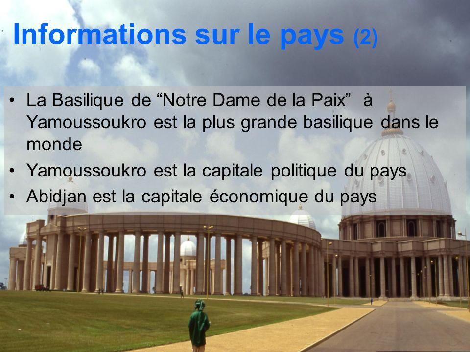 Informations sur le pays (2)