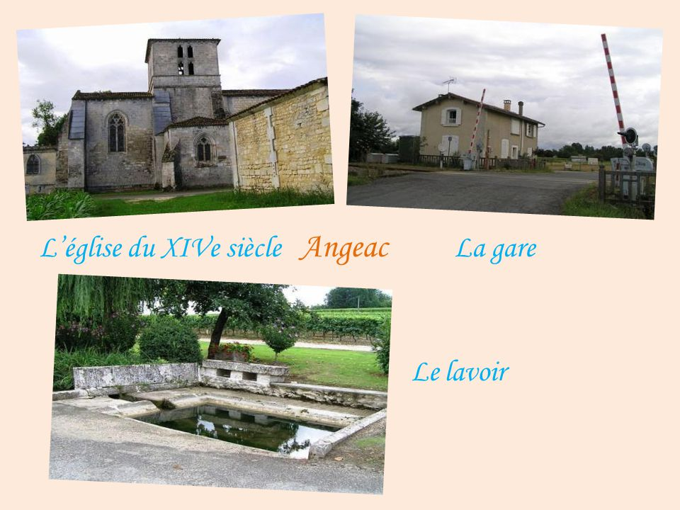 L'église du XIVe siècle Angeac La gare