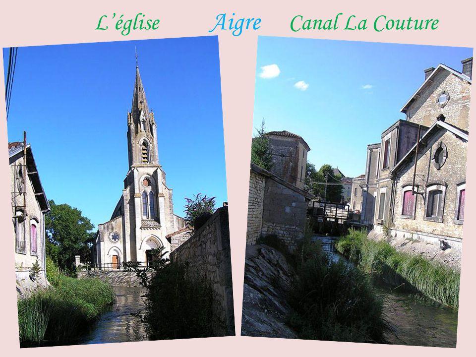 L'église Aigre Canal La Couture