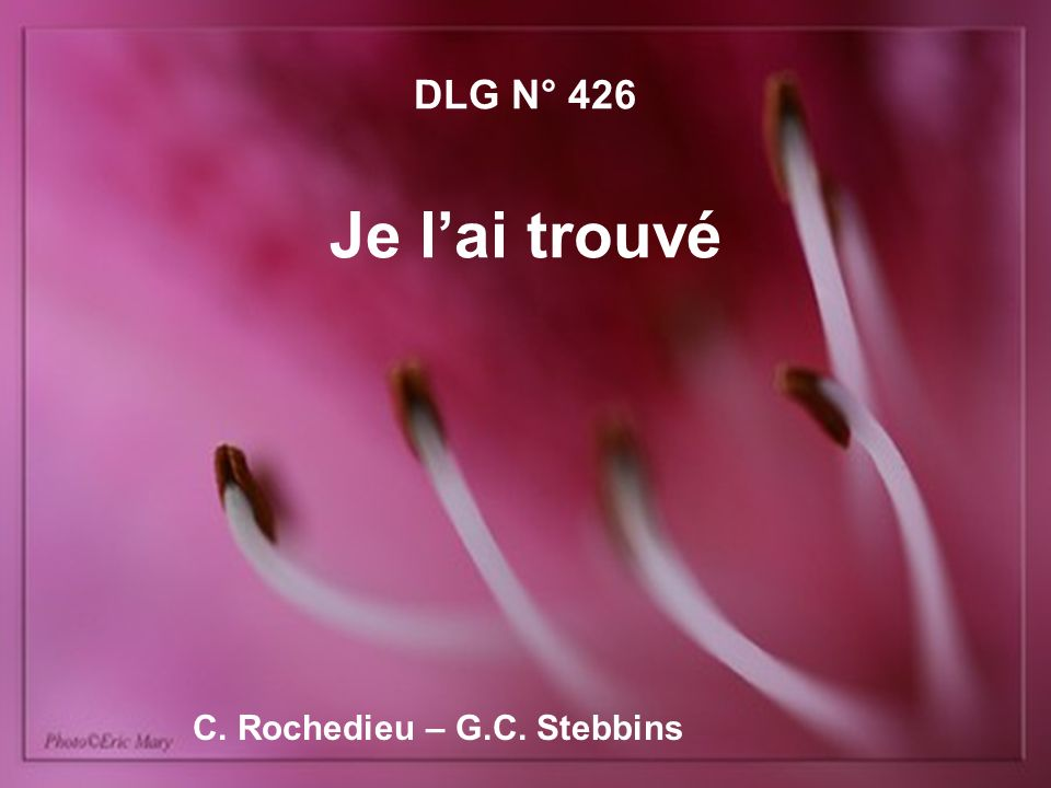 C. Rochedieu – G.C. Stebbins
