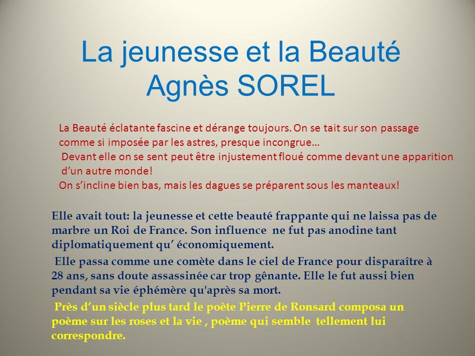 La jeunesse et la Beauté Agnès SOREL
