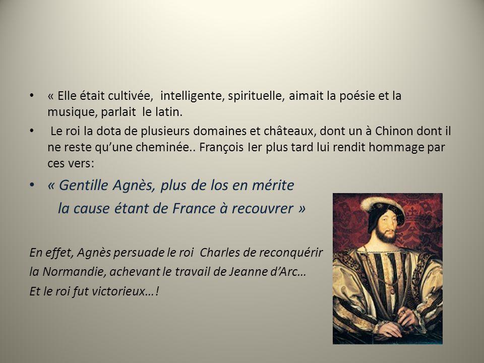 « Gentille Agnès, plus de los en mérite