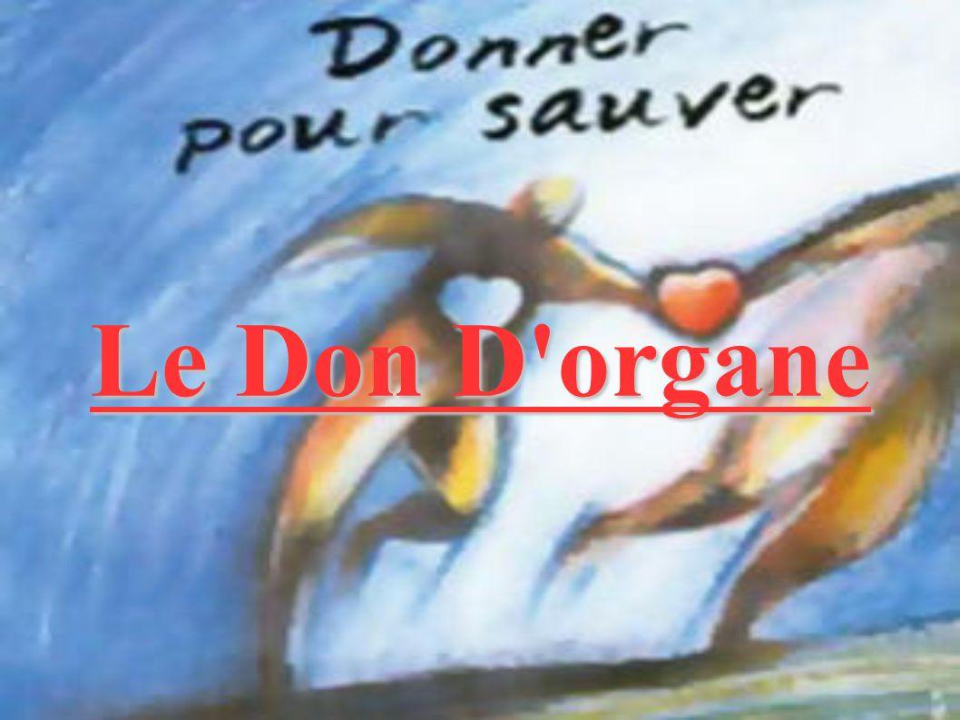 Le Don D organe