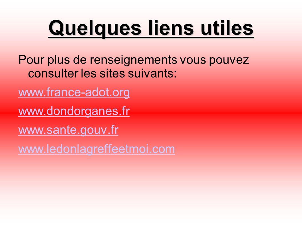 Quelques liens utiles Pour plus de renseignements vous pouvez consulter les sites suivants: www.france-adot.org.