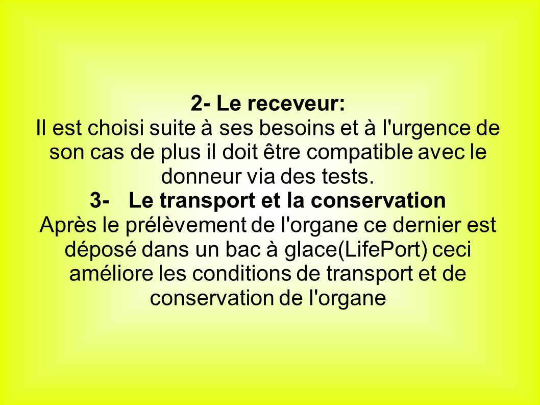 3- Le transport et la conservation