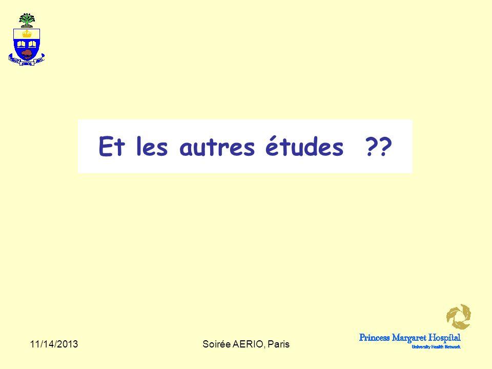 Et les autres études 3/25/2017 Soirée AERIO, Paris