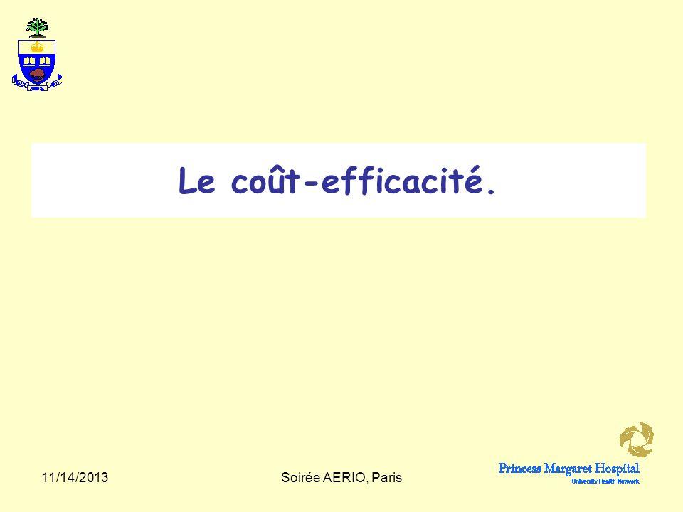 Le coût-efficacité. 3/25/2017 Soirée AERIO, Paris
