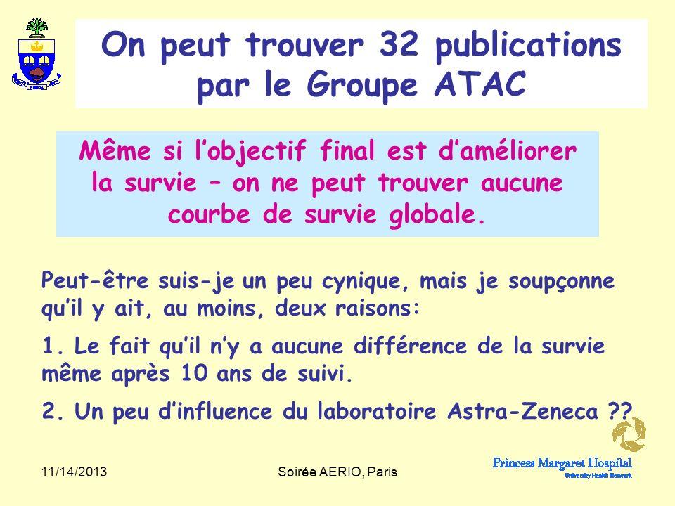 On peut trouver 32 publications par le Groupe ATAC