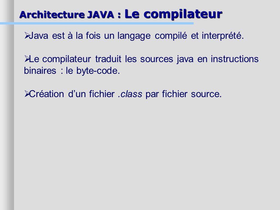 Java est à la fois un langage compilé et interprété.