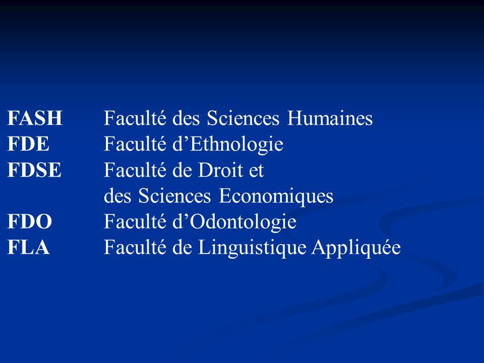 FASH Faculté des Sciences Humaines