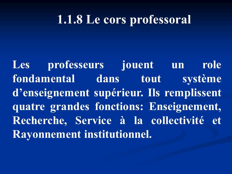 1.8 Le cors professoral