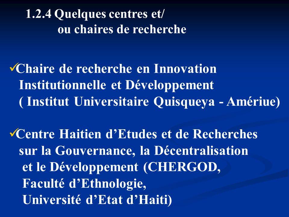 Chaire de recherche en Innovation Institutionnelle et Développement