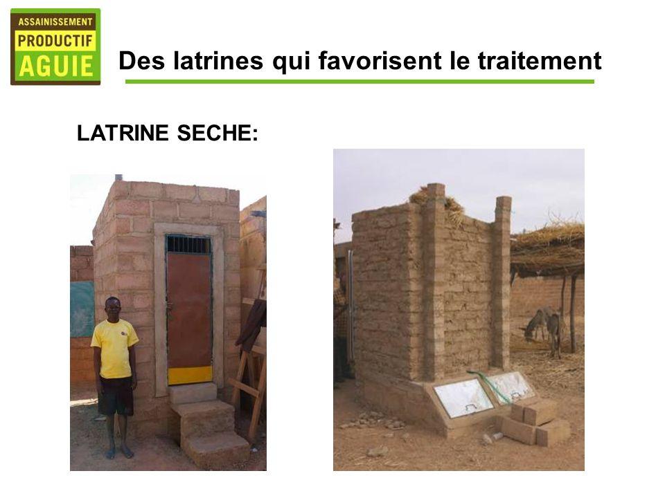 Des latrines qui favorisent le traitement