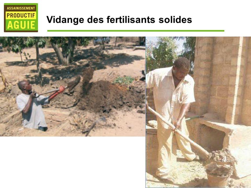 Vidange des fertilisants solides