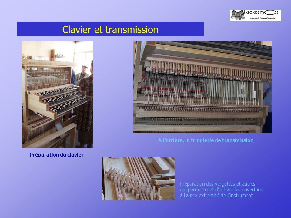 Clavier et transmission
