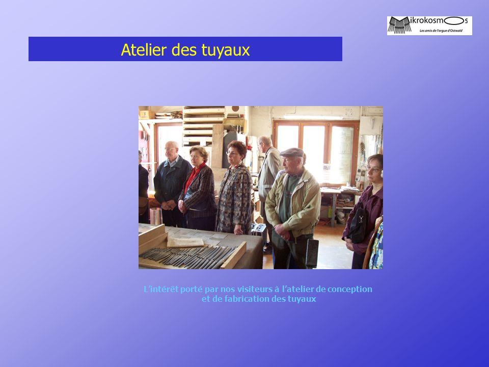 Atelier des tuyaux Visite Muhleisen du 1er avril 2005