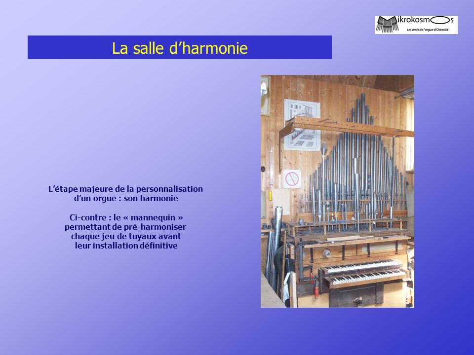 La salle d'harmonie L'étape majeure de la personnalisation