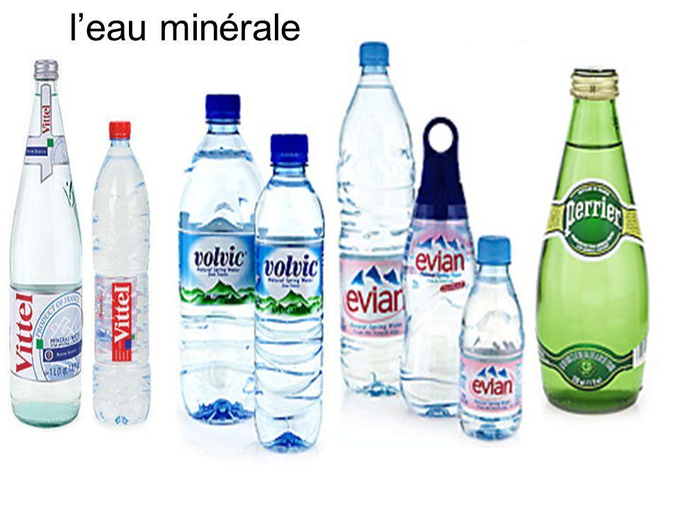 l'eau minérale